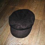 кепка под замш коричневая на окружность 54-56 см тонкая