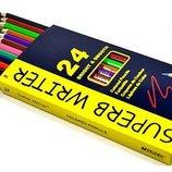 Карандаши цветные простые Marco олівці кольор рисования, черчения канцтовары канцтовари канцелярские