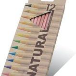 Карандаши цветные Marco Natural олівці кольорові рисования, черчения канцтовары канцелярские шкіл шк