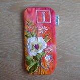 Чехол для телефона Ekard розовый цветки яркий