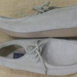 10р-28-28/5 замша беж туфли Easy реальный цвет фото 1-2 вспышка дает розовину стелька вынимается 29
