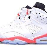 Мужские кроссовки Nike Air Jordan 6 White/Infrared