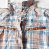 Новая стильная рубашка Matalan на девочку 6-7 лет