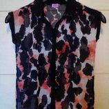 красивенная,воздушная,легкая шифоновая рубашка-блуза F&F,пр-ль Турция