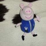 мягкая игрушка хрюкающая свинка Джордж Peppa pig Англия оригинал 16 см