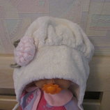 Зимняя шапка на девочку 3-5 лет объем 48-50