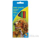 Карандаши цветные 12 шт Kite Кайт олівці кольорові
