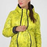 Демисезонная куртка для беременных, салатовая