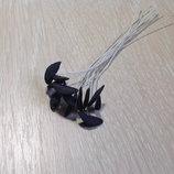 Тычинки для лилии глина,Тайланд-15 8 мм,цв.черный-1 шт.