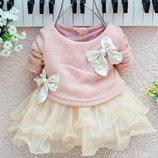 12-11 Детское платье/ Платье для девочки/ Нарядное платье для малышки/ Кофта-Юбка