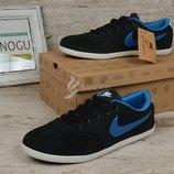 Кроссовки замша Nike Zoom женские темно-синие фирменная упаковка