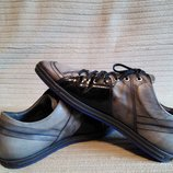 Эпатажные комбинированные кожаные спортивные туфли Floris Van Bommel. Голландия. 43 р.