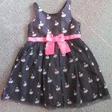Платье на девочкур.92
