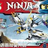 Конструктор Ninja Аналог LEGO Ninjago самолет Планер против Кай Ву SY521B
