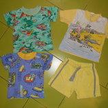 футболки и шорты на мальчика 1 год б/у
