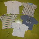 футболки на мальчика 3-6 мес 1 год б/у