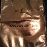 Золотистая подарочная сумочка Орифлейм