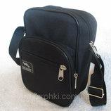 Мужская сумка Wallaby 2661 черная барсетка через плечо и на пояс 21х16х8см