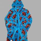 нові от 2-8 лет 28,30,32,34,36,38 для мальчика новый теплый махровый халат с капюшоном голубого цве
