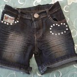 Классные джинсовые шорты для девочки 5-7л