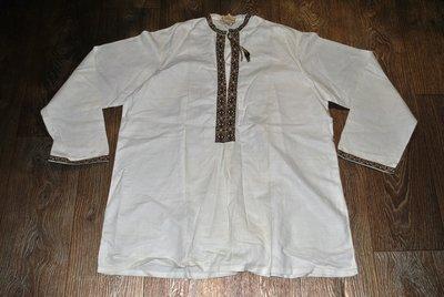 Новая Рубашка вышиванка 100% хлопок 52 54 размер белая