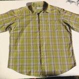Canda. Оливковая рубашка с нюансом и коротким рукавом.