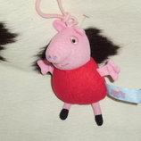 мягкая игрушка-брелок Свинка Пеппа Рeppa Рig Англия оригинал 14 см