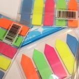 Цветные пластиковые закладки-индексы с клеевым слоем канцтовары канцтовари канцелярские канцелярські