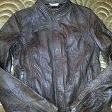 Куртка из натуральной кожи с принтом под рептилию