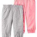Комплекты трикотажных штанишек Carters для девочек.