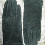 Перчатки утепленные женские натуральная замша House of Fraser L