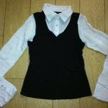 Рубашка - обманка для школы на девочку 11-14 лет.