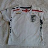 Крутая белая футболка England от Umbro на 18-24 мес., 86 см