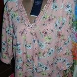 Новая фирменная блуза 12 евро 40 на наш 46-48,осень красивая и нежная