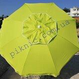 Синий пляжный зонт с клапаном и наклоном 2 м. Плотная ткань. Зонтик для пляжа от солнца