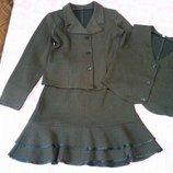 Школьная форма 4 вещи, жакет, юбка, жилетка и брюки
