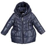 18м Пальто куртка Mayoral теплое р86 съемный капюшон темно-синее оригинал