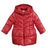 12м Пальто куртка Mayoral теплое р80 съемный капюшон скарлет оригинал