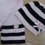 Шапка шарф девочке 1-3 г набор комплект Disney Дисней Минин маус Микки маус новая