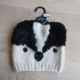 шапка детская мишка панда красивая новая осень весна с бирками F&F