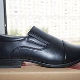 Туфли для мальчика, новые, черные, размеры 36, 37, 38, 39