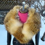 Куртка косуха из натуральной кожи и натуральным мехом лисы в наличии