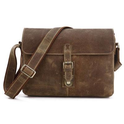 Мужская кожаная сумка Бесплатная доставка мессенджер 7084B