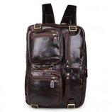 Кожаный портфель-трансформер 3 в 1 Бесплатная доставка сумка, рюкзак 7026Q-1