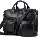 Кожаный портфель -трансформер Бесплатная доставка сумка, рюкзак 7026A