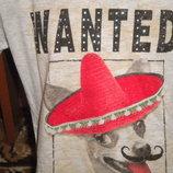 прикольная туника - футболка в камешках 10-11 лет
