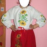 Нарядное платье украиночки 5-7лет