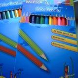 Карандаши цветные 12 цв. Ocean world Олівці кольорові канцтовары канцтовари канцелярские канцелярськ