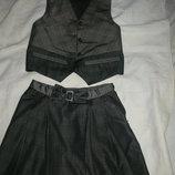 Форма школьная жилет юбка