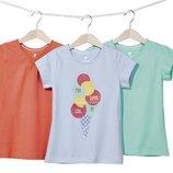 Набор котонових футболок фірми Lupilu із Гермнії оригінал 98-104, 110-116